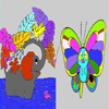 Butterfly - Elephant Coloring Game
